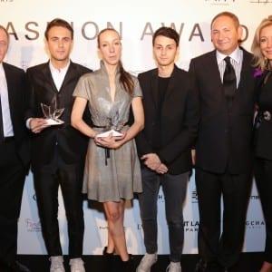 François-Henri Pinault & Arnaud Vaillant & Iris Van Herpen & Sebastien Meyer & John Demsey & Nadja Swarovski