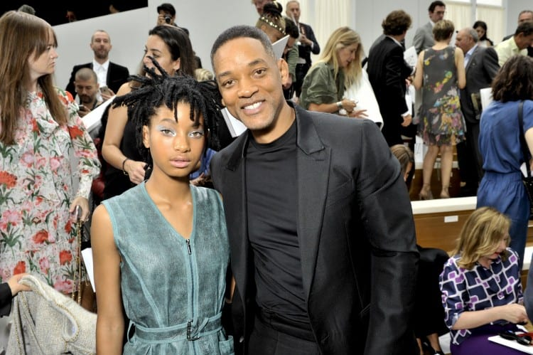 FW 2016 17 Haute Couture show_Celebrities pictures by Stephane Feugere_Willow SMITH and Will SMITH
