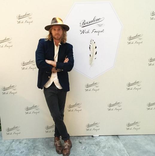 nick fouquet a lancement Borsalino à Milan