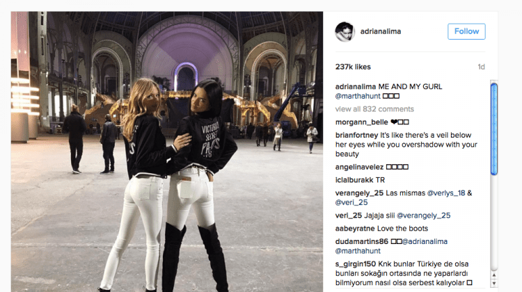 @AdrianaLima (avec Martha Hunt au Grand Palais)
