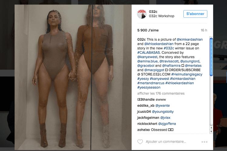 Khloé et Kim Kardashian - Yeezy 3