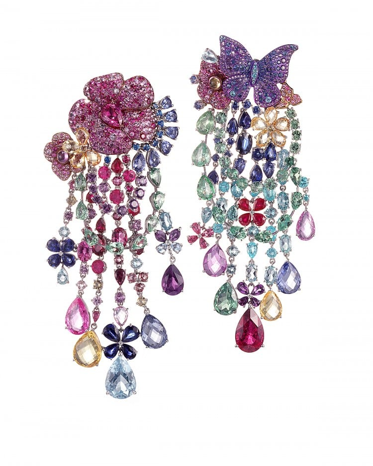 RIHANNA ♥ CHOPARD Haute Joaillerie collection earrings 1