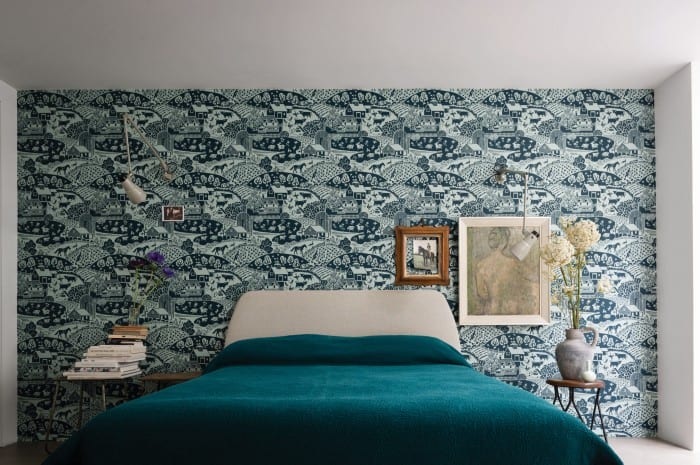 farrowandball-bedroom-wallpaper