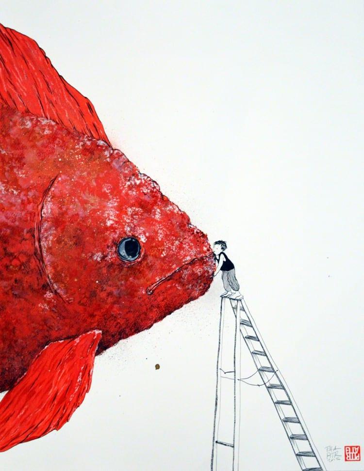 Ella & Pitr_Sur la bouche des poissons_Courtesy Galerie Le Feuvre