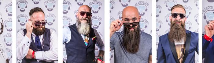 De gauche à droite  Richard Palatchi (07 – Guilherand Granges) dans la catégorie Barbe l'Audacieuse Yohann Catton (70 – Arbecey) dans la catégorie Barbe Verdi Vincent Tacquenire (59 – Annœullin) dans la catégorie Barbe naturelle inférieure à 20 cm Julien Voeltzel (77 – Rozay en Brie) dans la catégorie Barbe naturelle supérieure à 20cm Javor Mujicic (75 – Paris) dans la catégorie Barbe Garibaldi Denis-Pierre Cariou (62 – Lens) élu «Best in Show» pour la qualité de sa barbe, sa coupe et son style