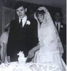 Mary Guilbert lors de son mariage avec Tim Buckley