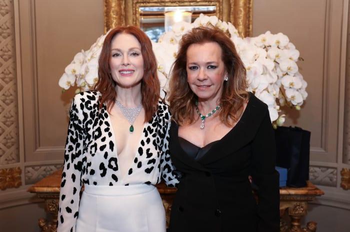 Julianne Moore and Caroline Scheufele